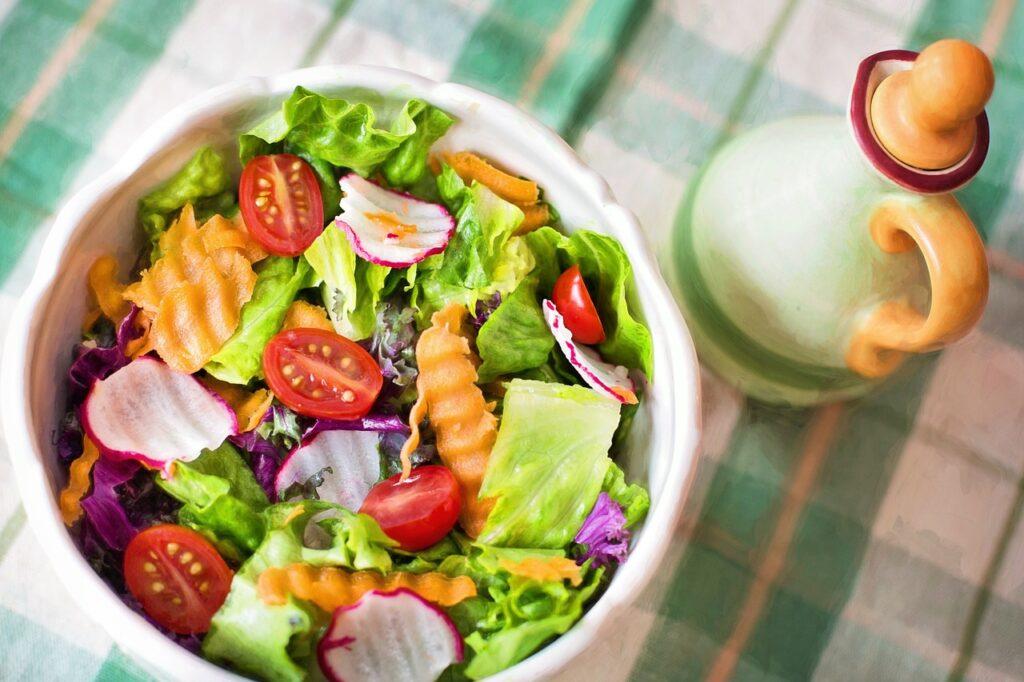 Lækker velsmagende salat der mætter